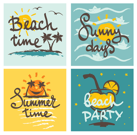chill out: Funny summer hand drawing calligraphy Illustration