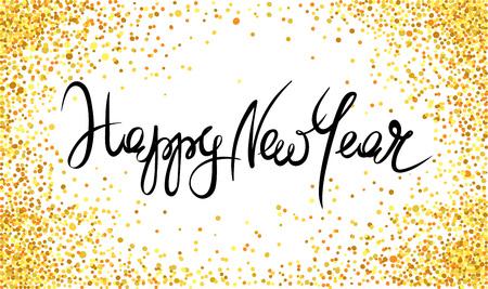 Felice Anno Nuovo / Sfondo con glitter, vacanza sfondo con un coriandoli metallico.