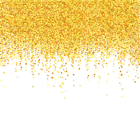 happening: Gold shower  Blank for the holiday background with a metallic confetti