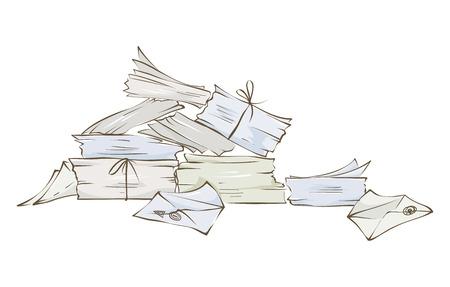 Stapel brieven Vector illustratie