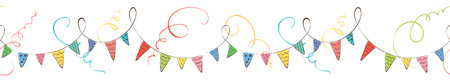 Holiday decoration / Bright buntings garlands, vector illustration Ilustrace