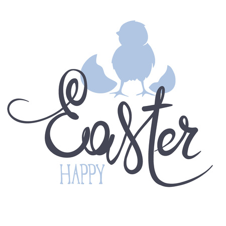 Happy Easter  Hand Drawn Easter Greeting Card Template Illustration