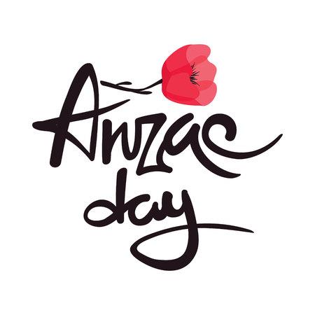 澳纽军团日。矢量插图,横幅-纪念日。