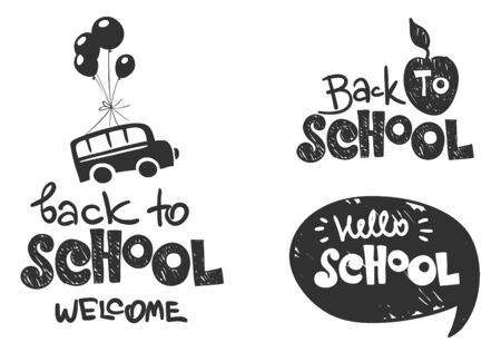 Back to school  Set vector illustration on a school theme