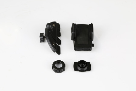 Universal Car Windshield Mount Suction Holder Bracket for smartphone, GPS, PDA isolated on a white background