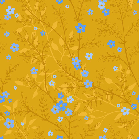 Seamless leaf pattern. Seamless patterns are used in textile design, postcards, calendars, websites, wallpapers, packages, backgrounds
