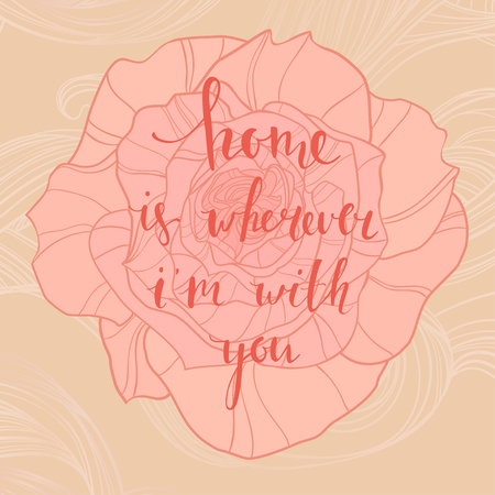 writting: Beautifal vintage card with sweet calligraphic message and rose background. can be used as greeting card,invitation card for wedding,birthday and other holiday.