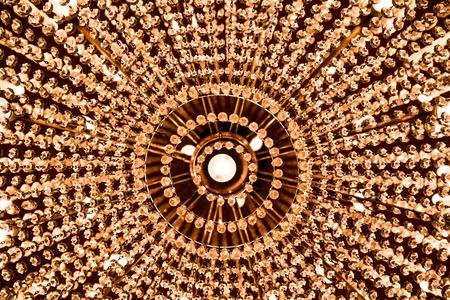 Crystal chandelier, detail.