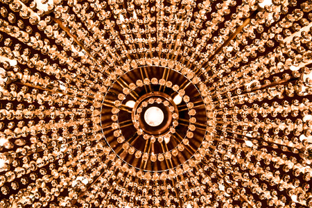 contrasts: Crystal chandelier, detail.