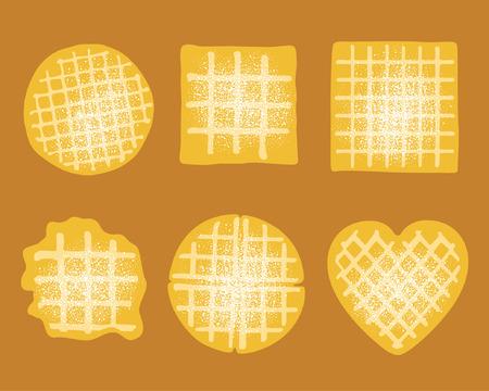 waffle: Waffle set Illustration