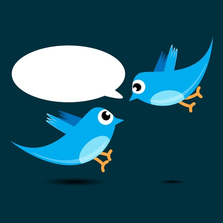 word bubble: bird talking