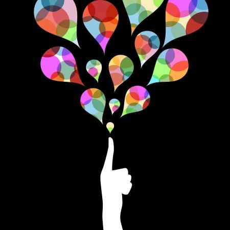 fingertip: creative colorful fingertip