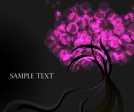 frizz pattern: emotional abstract pink color tree