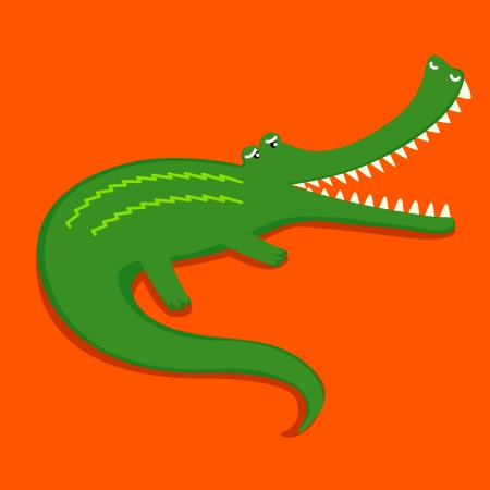funy: funy and cute crocodile cartoon