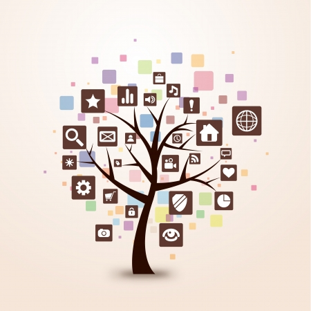 download link: web icon tree concept