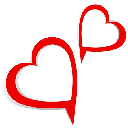 heart with text: heart text bubble