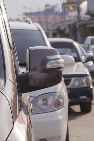 traffic jams in the city rush hour. Bangko Thailand. Asian city fraffic jam. Stock Photo