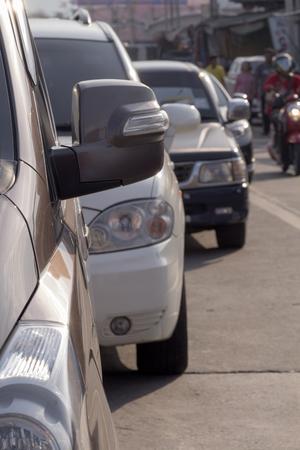 traffic jams in the city rush hour. Bangko Thailand. Asian city fraffic jam. Standard-Bild