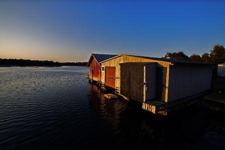boathouse: Boathouse at dawn