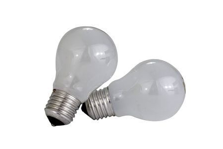 Isolated light bulbs on a white background Stock Photo - 844396
