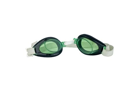 swimming googles on a white background