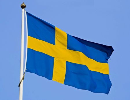undulate: Swedish flag