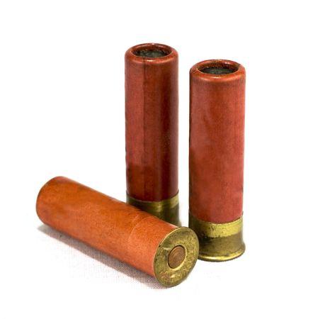 millimetres: isolated shotgun shells on white background