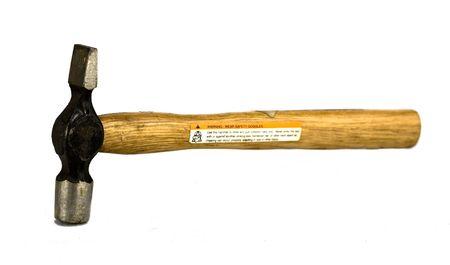 well used hammer on white background Banco de Imagens