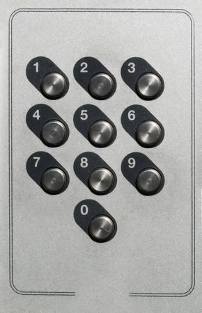 a numerical sequrity key pad for access