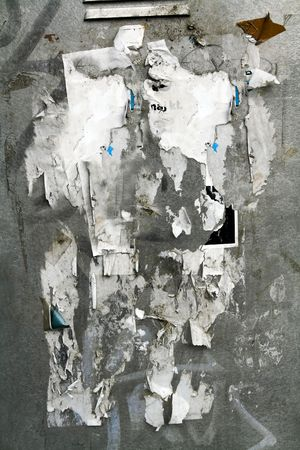 weathered urban street poster  wall Stock Photo