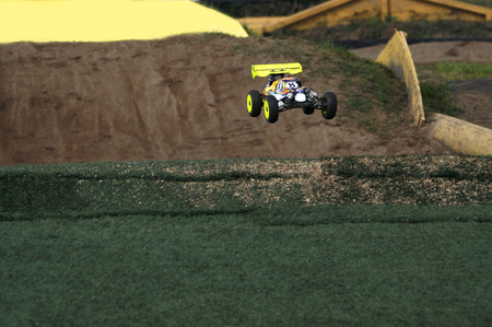 radio activity: dirt track race with RC toy cars