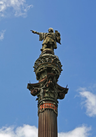 christopher: statue of christopher columbus in central Barcelona, Spain