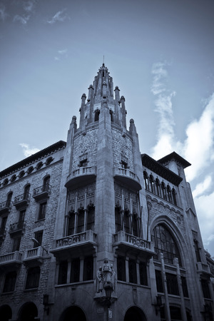 catholism: old cathedral in central Barcelona, Spain Stock Photo