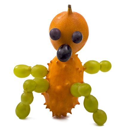 man made: A fresh and healthy little man made out of fruit