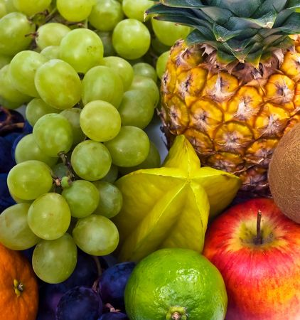 exotic fruits: an assortment of fresh exotic fruits