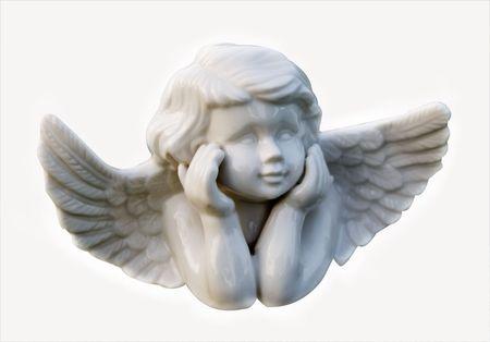 cherub: cherub angel in deep thoughts