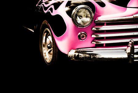 rockabilly: close up of vintage car Stock Photo