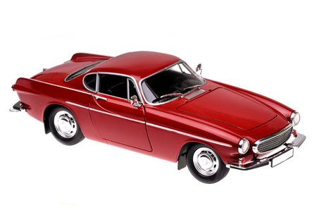 model of a red classic vintage car Stock Photo