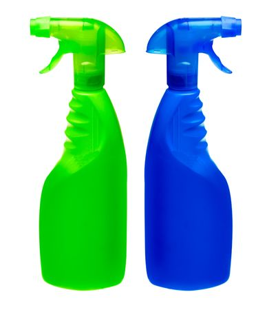 cleanser: generic spray bottles (put on your own label) Stock Photo