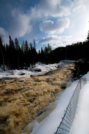 Winter rapids in the north of Sweden Stock Photo - 2771489