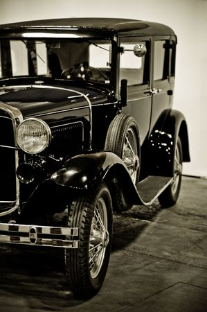close up of a vintage car Stock Photo