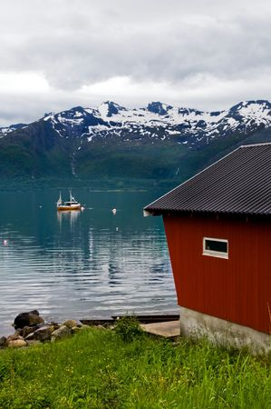 fishing cabin: fishing cabin in the north of Norway