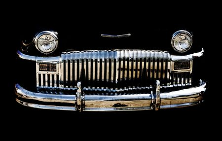 rockabilly: close up of a classic vintage car