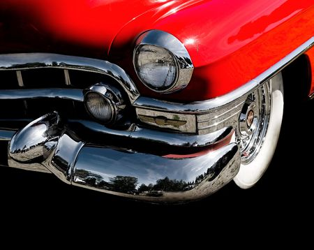 close up of a classic vintage car