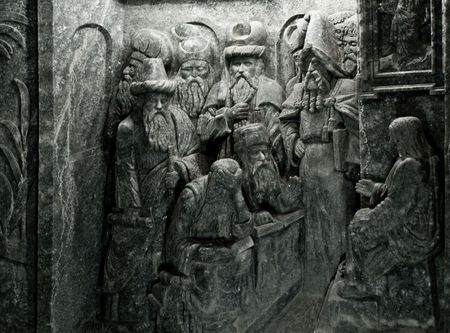 roster: Salt decorations in Wieliczka Salt Mine, Krakow. It was one of the worlds oldest operating salt mines and is placed on the original UNESCO roster of World Heritage Sites. Stock Photo