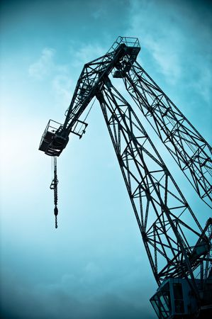 a large lifting crane at the docks Stock Photo - 6857382