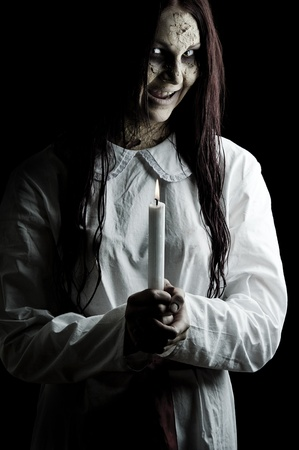 a dark scary version of the folklore character lucia Stock Photo