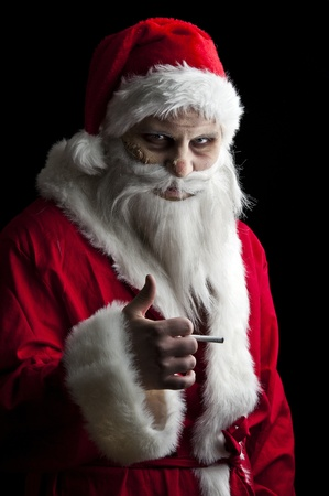portrait of a scary looking santa claus Stock Photo - 8381300
