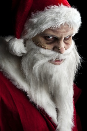 portrait of a scary looking santa claus Stock Photo - 8381301