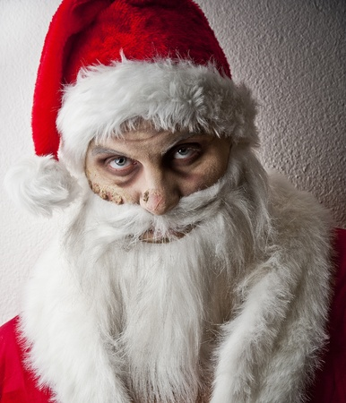 portrait of a scary looking santa claus Stock Photo - 8462656